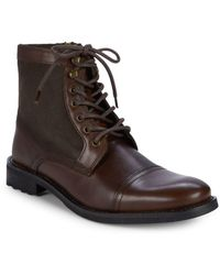 Kenneth Cole Reaction - Round-toe Leather Ankle Boots - Lyst