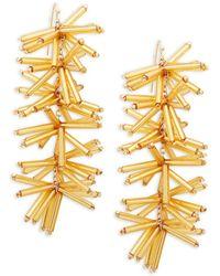 Panacea - Beaded Stick Drop Earrings - Lyst
