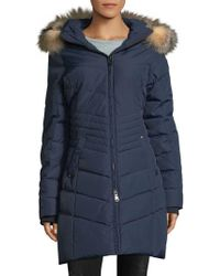 Pajar - Brooklyn Fox Fur-trimmed Quilted Zip-front Coat - Lyst