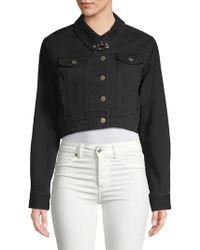 Public School - Cropped Denim Jacket - Lyst