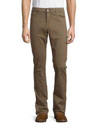 Bugatchi - Truffle Straight Leg Trousers - Lyst