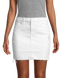 J Brand - Distressed Stretch Mini Skirt - Lyst