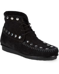 Giuseppe Zanotti - Studded Fringe Suede Lace-up Boots - Lyst