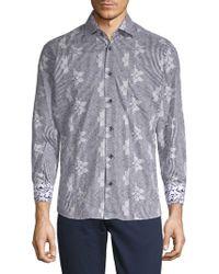 Bertigo - Abstract-print Cotton Button-down Shirt - Lyst