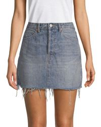 Free People Handkerchief Hem Jean Ripped Tire Swing Skirt Rugged Vintage 0 New Women's Clothing