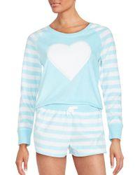 Betsey Johnson - Fleece Striped Pyjama Set - Lyst