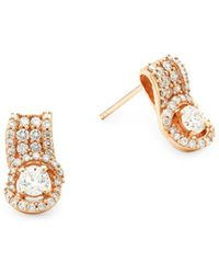Le Vian - Diamond & 14k Rose Gold Earrings - Lyst