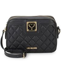 Love Moschino - Quilted Faux Leather Camera Bag - Lyst
