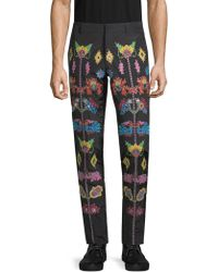 Moschino - Embroidered Pants - Lyst