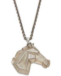 Lyst john hardy sterling silver horse pendant necklace in black john hardy sterling silver horse pendant necklace lyst aloadofball Gallery
