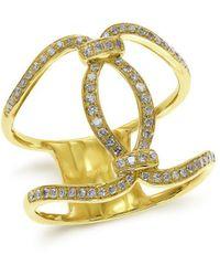 Effy - Doro 14k Yellow Gold Diamond Ring - Lyst