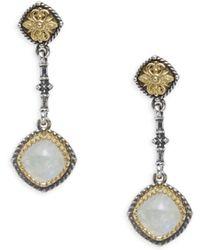 Konstantino - Labradorite, Sterling Silver & 18k Yellow Gold Earrings - Lyst
