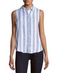 Workshop - Striped Button-down Shirt - Lyst