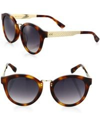 Jimmy Choo - Pepy 50mm Round Sunglasses - Lyst