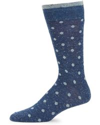 Saks Fifth Avenue - Polka Dot Socks - Lyst