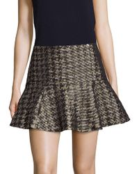 Parker - Metallic Fit-&-flare Skirt - Lyst