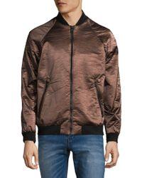 Calvin Klein - Full-zip Metallic Jacket - Lyst
