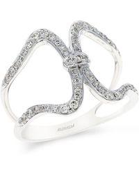 Effy - Pavé Classica 14k White Gold And Diamond Ring - Lyst