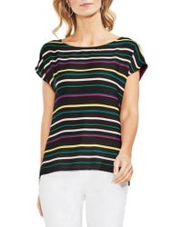Vince Camuto - Topic Heat Extend Shoulder Striped Blouse - Lyst