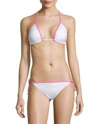 Juicy Couture - Self-tie Triangle Bikini Top - Lyst