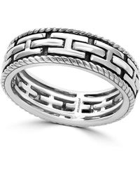 Effy - Sterling Silver Textured Ring - Lyst