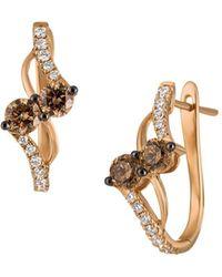 Le Vian - 14k Strawberry Rose Gold®,chocolate Diamonds® & Vanilla Diamonds® Earrings - Lyst