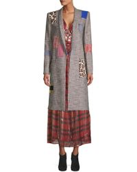 Alice + Olivia - Kylie Patchwork Coat - Lyst