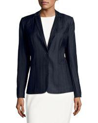 T Tahari - Resiling Stripe Jacket - Lyst