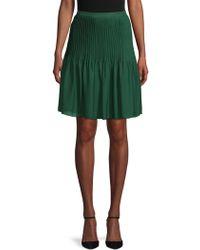 Oscar de la Renta - Classic Pleated Skirt - Lyst
