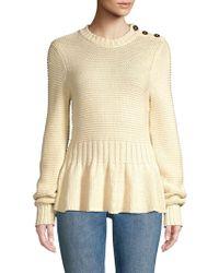 Rebecca Taylor - Peplum Sweater - Lyst