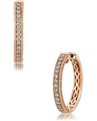 Le Vian - Chocolatier Diamond & 14k Rose Gold Huggies Earrings - Lyst