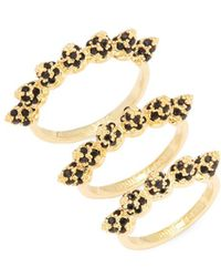 Eddie Borgo - Pave Cone Band Stackable Ring Set - Lyst