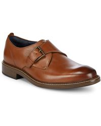 Cole Haan - Leather Kennedy Monk Strap Shoes - Lyst