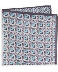 Saks Fifth Avenue - Geometric Silk Pocket Square - Lyst