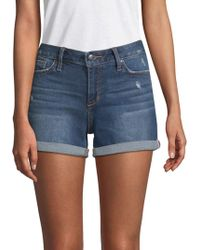 Joe's - Hailey Distressed Denim Shorts - Lyst