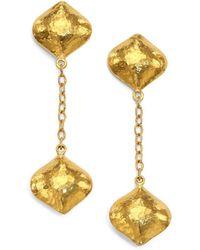 Gurhan - Clove 24k Yellow Gold Cielo Long Chain Drop Earrings - Lyst
