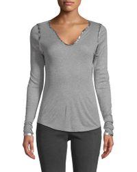 Zadig & Voltaire - Tunisien Metallic Sweatshirt - Lyst
