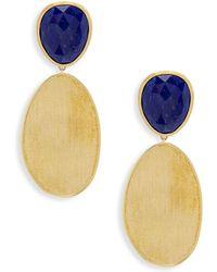 Marco Bicego - Lunaria Gemstone & Yellow Gold Oval Drop Earrings - Lyst