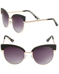 Fantaseyes - Round 51mm Clubmaster Sunglasses - Lyst