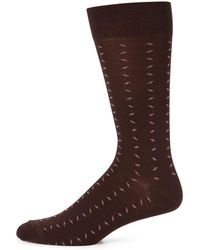 Saks Fifth Avenue - Combed Cotton Blend Socks - Lyst