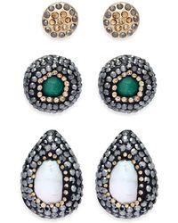 Noir Jewelry - Teardrop-shaped Earrings - Lyst