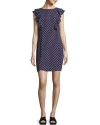 Donna Morgan - Double Ruffle Mini Dress - Lyst