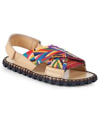 Valentino - Multicolored Patterned Slingback Sandals - Lyst
