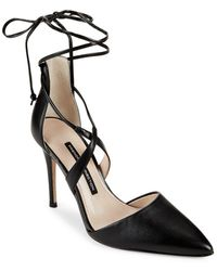 French Connection   Elise Leather Pumps   Lyst