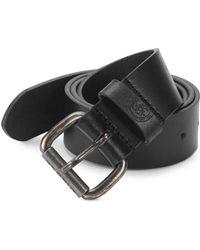 DIESEL - Logo Leather Belt - Lyst