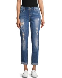 Seven7 - Sequin Distressed Jeans - Lyst