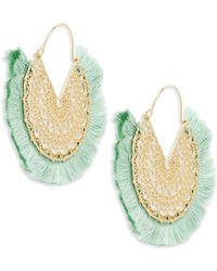 Panacea - Filigree Tassel Drop Earrings - Lyst