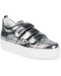 Alessandro Dell'acqua - Metallic Low Top Sneakers - Lyst