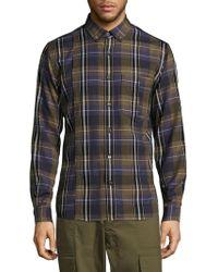 Public School - Plaid Cotton Button-down Shirt - Lyst
