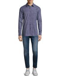 BOSS - Elisha Abstract-print Slim-fit Shirt - Lyst